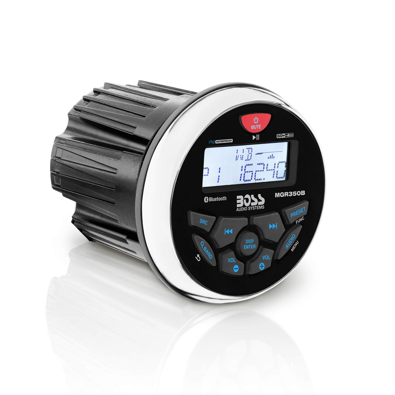 BOSS Audio Systems MGR350B Marine Gauge Receiver - Bluetooth, Digital Media MP3 Player, no CD Player, USB Port, AM FM Radio, Weatherproof by BOSS Audio Systems