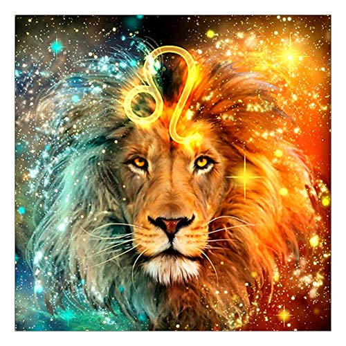 5D DIY Full Drill Diamond Painting Leo Cross Stitch Zodiac Signs Embroidery Mosaic Kit Home Decor Wall Art Gifts by Sundengyuey