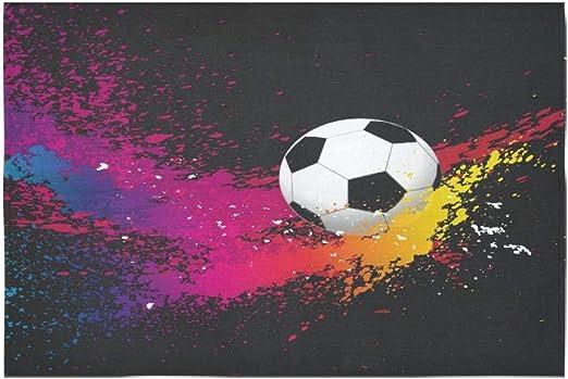 JEOLVP Tapicería Sabstract Fondo con Una Pelota De Fútbol Flor Psicodélica Tapiz Indio Dormitorio Decoración para la Sala de Estar Dormitorio60X40pulgadas: Amazon.es: Hogar