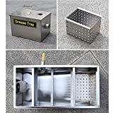 AnEssOil Commercial Grease Trap Stainless Steel