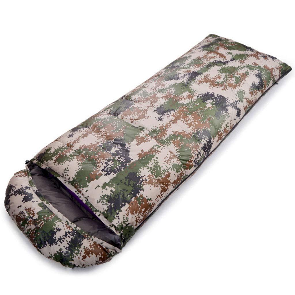 C 2.0kg DGB Enveloppe Sac De Couchage Camping Ultra-léger en Plein Air Randonnée Pause-déjeuner Le Duvet De Canard Blanc Adulte Camouflage Peut Être Cousu