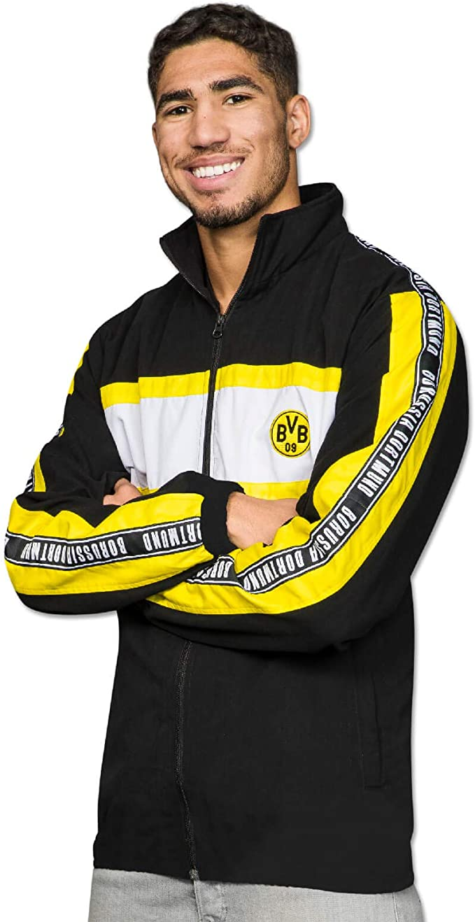 Borussia Dortmund BVB-Streetwear, giacca (nero), 18191901/XL, Nero ...
