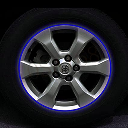 Car Motorcycle Wheel Sticker Reflective Rim Stripe Tape Decor Decal Accessories