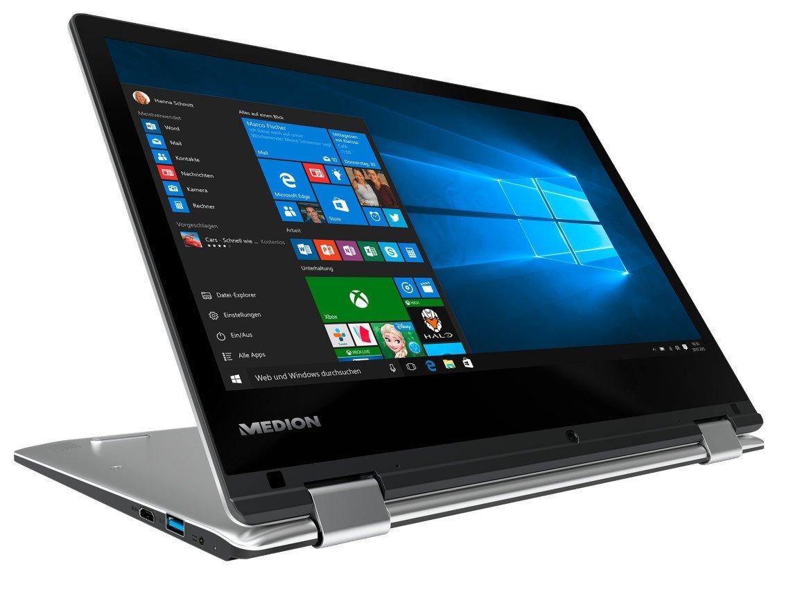 Medion Akoya e2228t MD 60250 29,5 cm (11,6 Pulgadas Full HD Display) Convertible Touch portátil (Intel Atom x5-z8300, 4 GB de RAM, 64 GB de Memoria Flash, ...