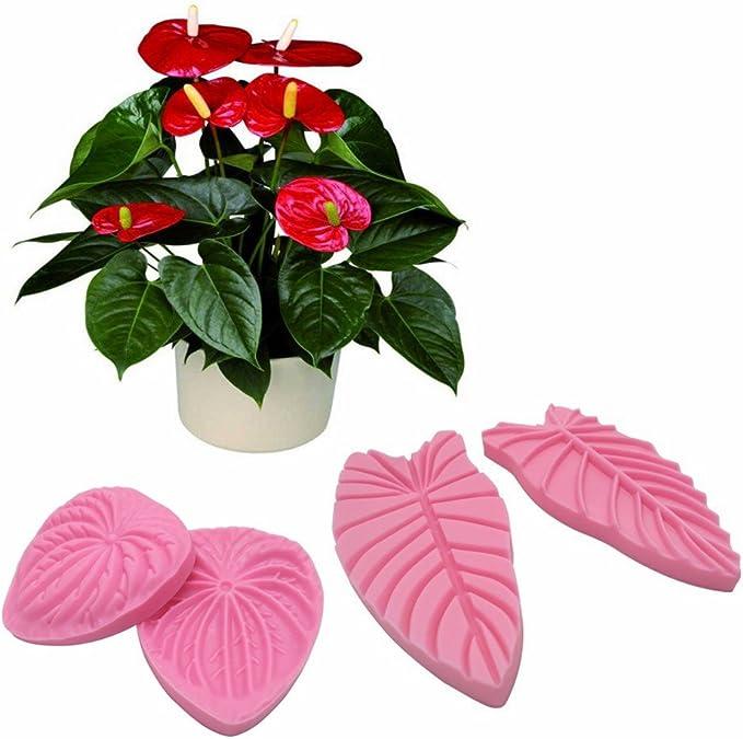 Solid vein stamp Anthurium petal L For polymern clay EVA Foam fabric flower making