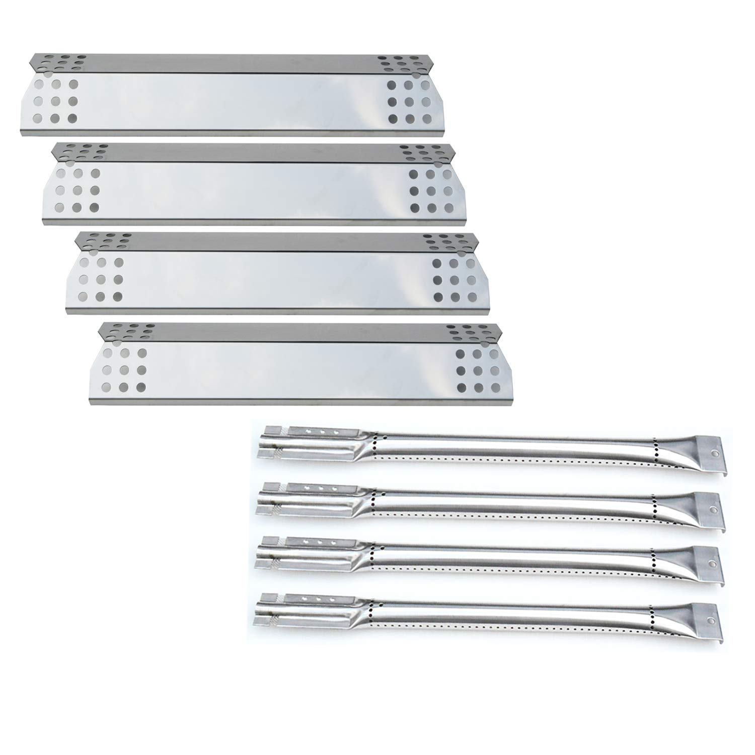 Direct store Parts Kit DG173 Replacement Kitchen Aid 720-0733A,4 Burner Gas Grill Burner,Heat Plate (Stainless Steel Burner + Stainless Steel Heat Plate)