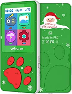 "MP3 Player for Kids, Cartoon Kids MP3 Music Player Bear Paw Button Design, 1.8"" LCD Screen, MP3 Player with Radio, Kids Games, Sleep Timer, Voice Recorder"