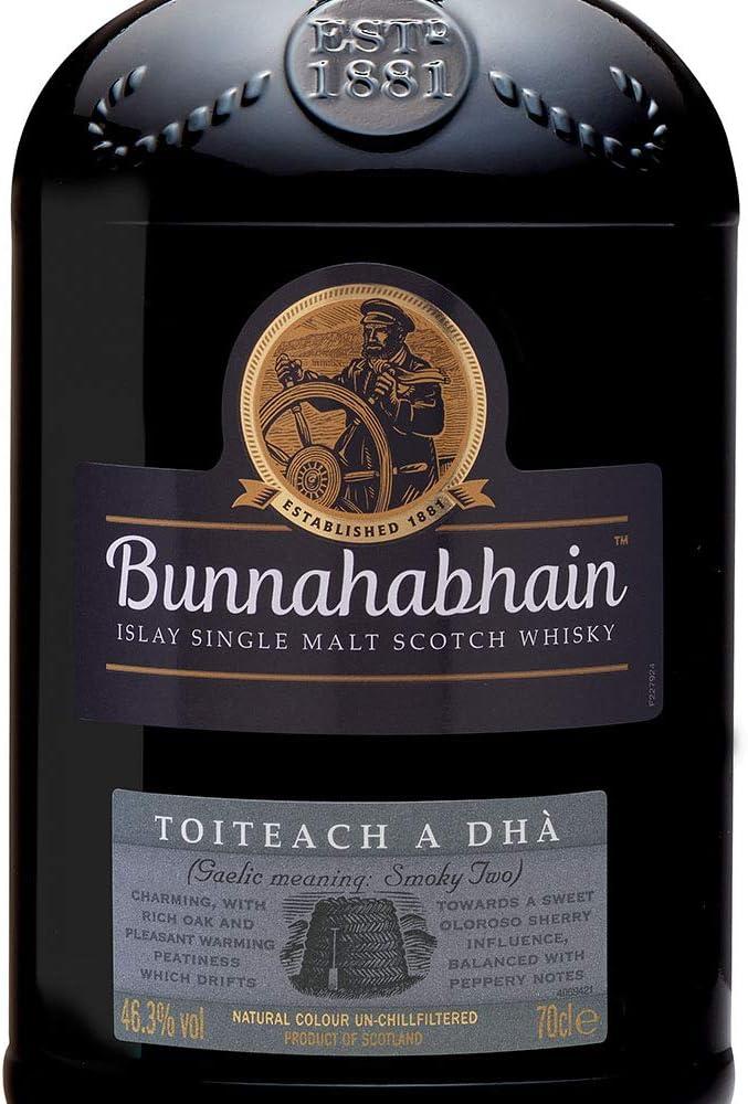 Bunnahabhain Toiteach A DHÀ Single Malt Scotch Whisky en caja de regalo, 700 ml