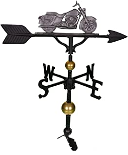 product image for Montague Metal Products 32-Inch Deluxe Weathervane with Swedish Iron Motorcycle Ornament