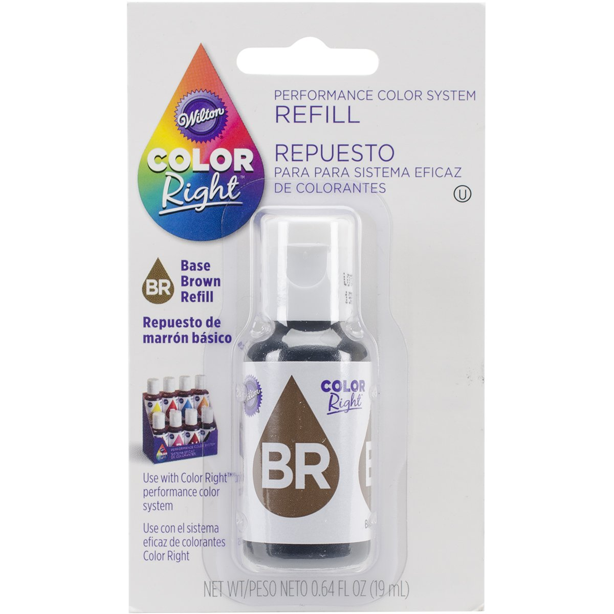 Wilton Right Food Color System Refill, .07 oz, Brown