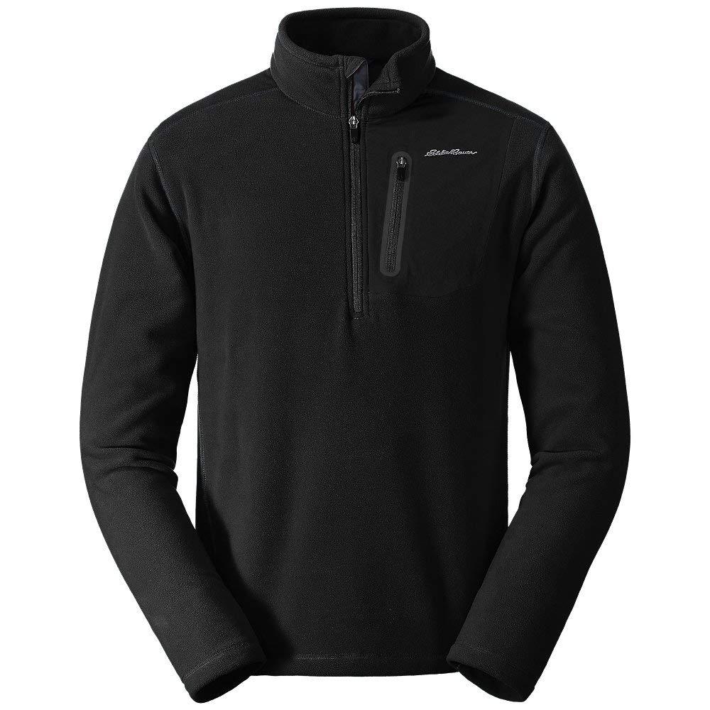 Eddie Bauer Men's Cloud Layer Pro 1/4-Zip Pullover, Black Regular XL by Eddie Bauer