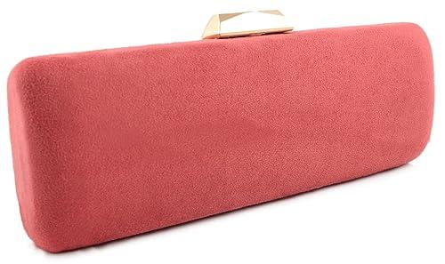 2fdc86e18 Mis Bolsos Online bolso de fiesta antelina coral: Amazon.es: Zapatos y  complementos
