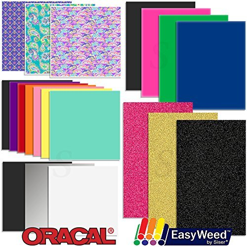 Oracal Vinyl and Siser EasyWeed Heat Transfer - Starter Sample Pack - 20 Sheets William Haley Swing Design 4336976818