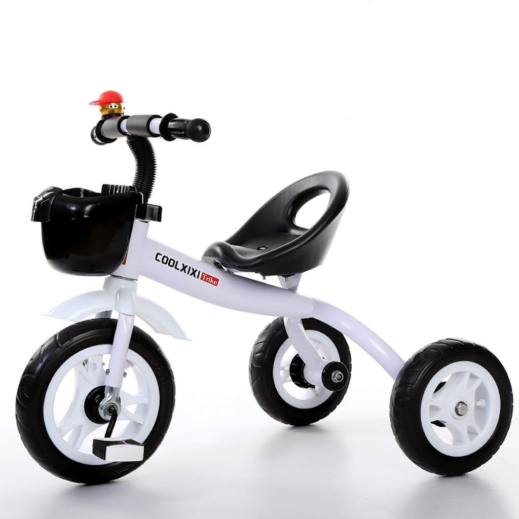 子供の三輪車2-5歳の赤ちゃんバイク子供赤ちゃんのベビーカー、白/緑/紫、68 * 50 * 57センチメートル。 ( Color : White ) B07CCKT8K7