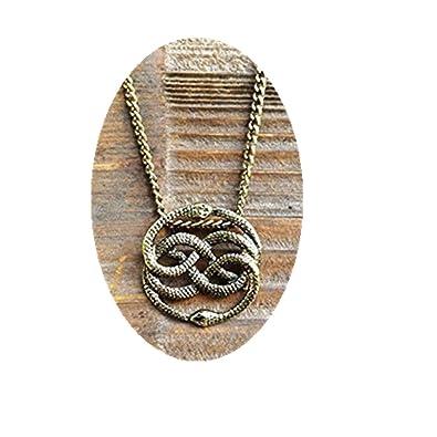 Neverending story antique bronze necklace never ending story snake neverending story antique bronze necklace never ending story snake pendant snake circle necklace mozeypictures Choice Image