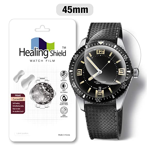 Smartwatch Screen Protector Film 45mm for Healing Shield Prime Curved Flat Wrist Watch Analog Watch Glass Screen Protection Film (45mm) [1PACK]