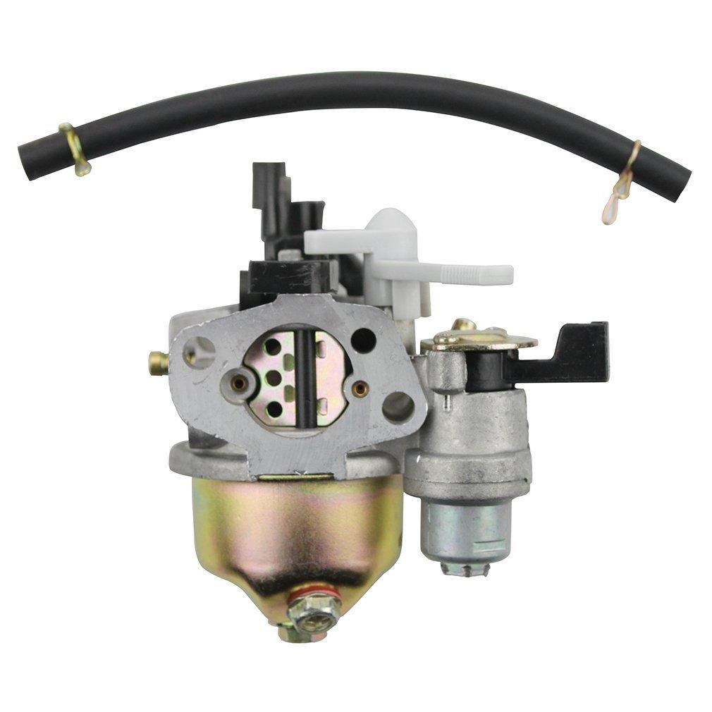 GOOFIT 19mm carburador Carb para Honda GX160 GX200 motor 5.5HP-16100-W61 zh8 w / Palanca del estrangulador N090-105