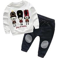 SMARTLADY 2-6 años Niño Niña Otoño/Invierno Ropa Conjuntos,Sudaderas + Pantalones,Personajes de Dibujos Animados Patrón