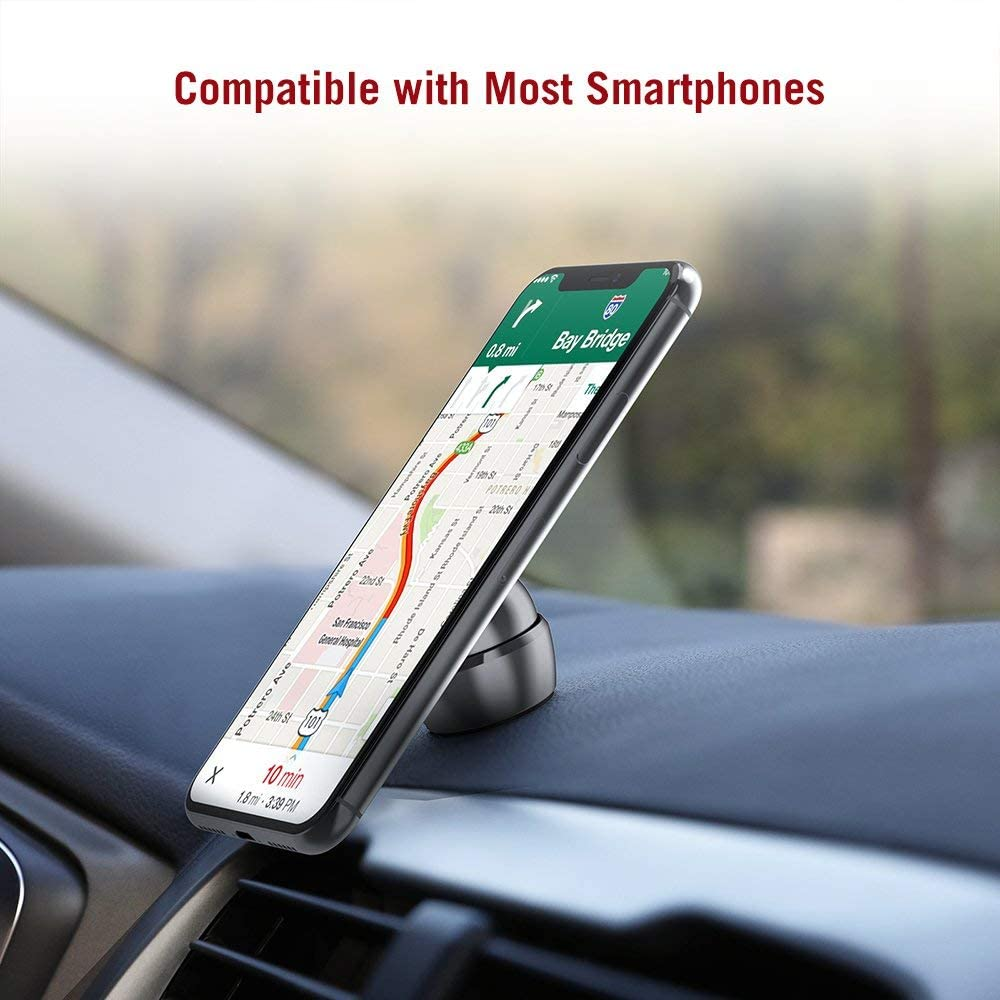 TaoTronics Magnetic Phone Holder for Car Dashboard Car Phone Mount with a Super Strong Magnet Compatible with iPhone Xs Max XR X 8 7 Plus Galaxy S9 S8 Plus Note 9 8 and More