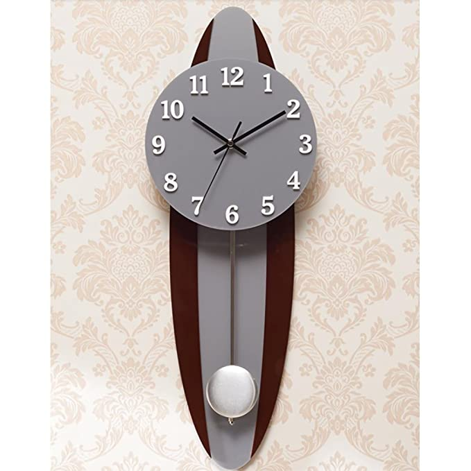 Amazon.com: MCC Retro Creative wall clock modern large pendulum clock Oval Mute clock , a: Sports & Outdoors