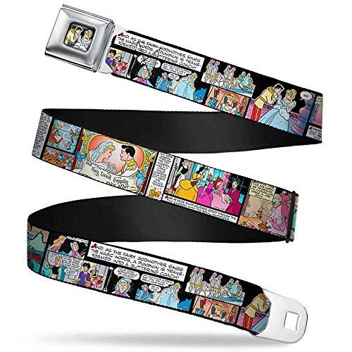 Prince & Cinderella Full Color Cinderella Movie Panels & Quotes Webbing Seatbelt Belt Kids