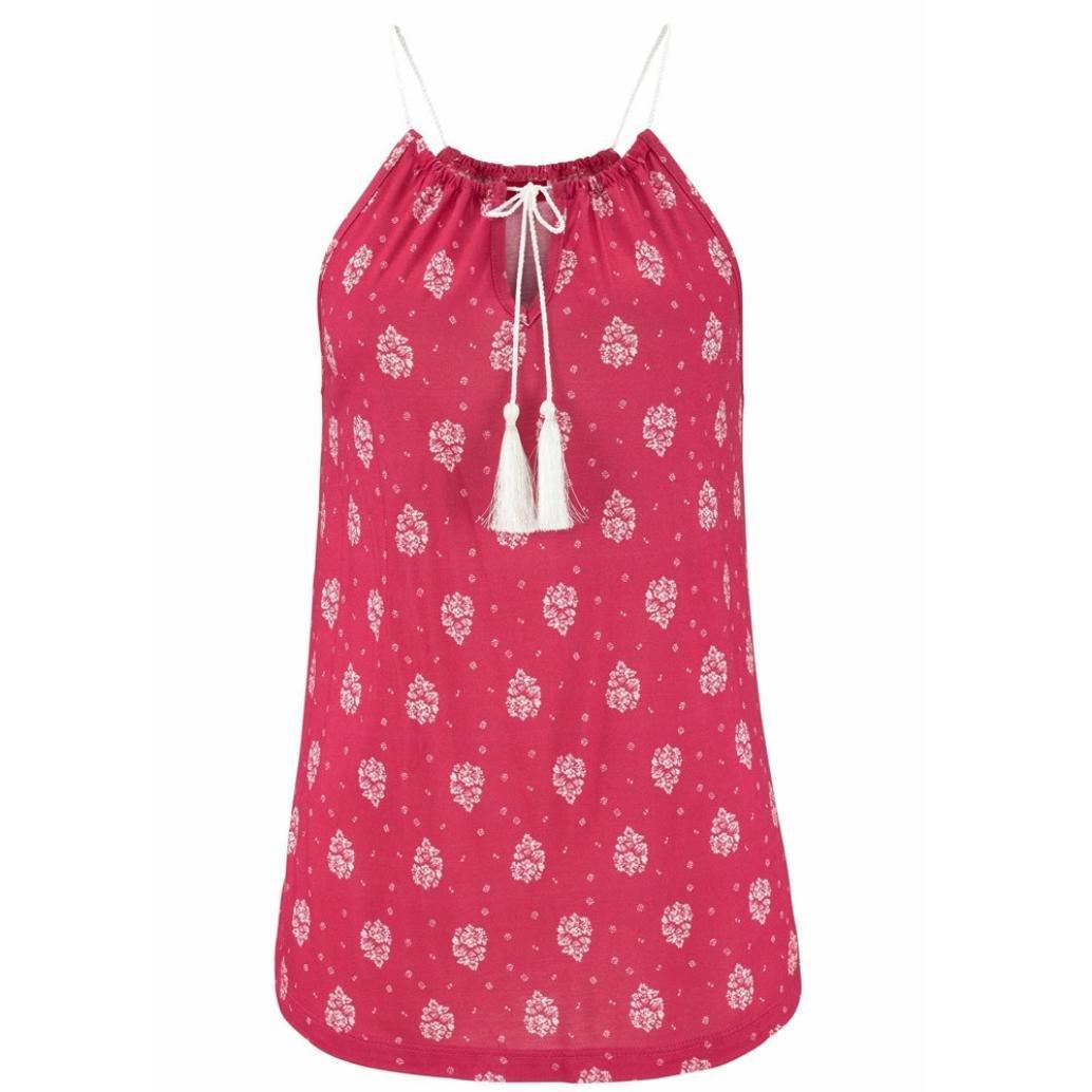 Fossen Mujer Blusa Camisa - Sin Mangas - Cordón - Elegante y Moda ...