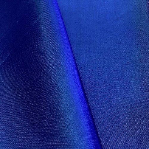 "Polyester China Silk Lining Fabric 60"" Wide Habutai By The Yard (Royal Blue, 5 YARD)"