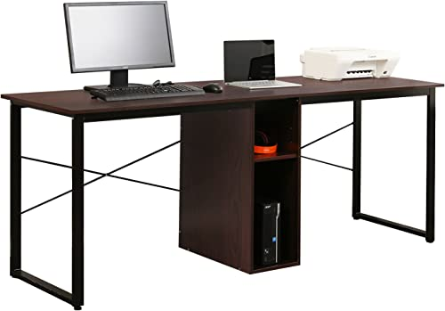 Soges 2-Person Home Office Desk,78 inches Large Double Workstation Desk