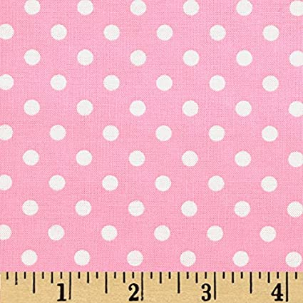 Pink /& White Spots Dumb Dot by Michael Miller Fabrics 100/% Cotton Fabric