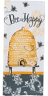 Kay Dee Designs Cotton Tea Towel, 18 By 28 Inch, Bee Happy