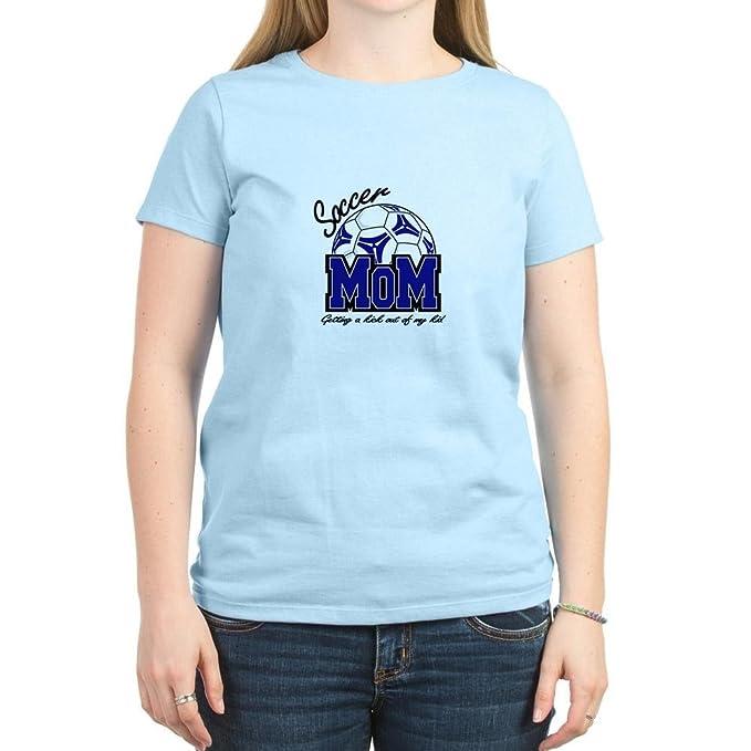 2914850da Amazon.com: CafePress - Soccer Mom for Lights T-Shirt - Womens Cotton T- Shirt, Crew Neck, Comfortable & Soft Classic Tee: Clothing