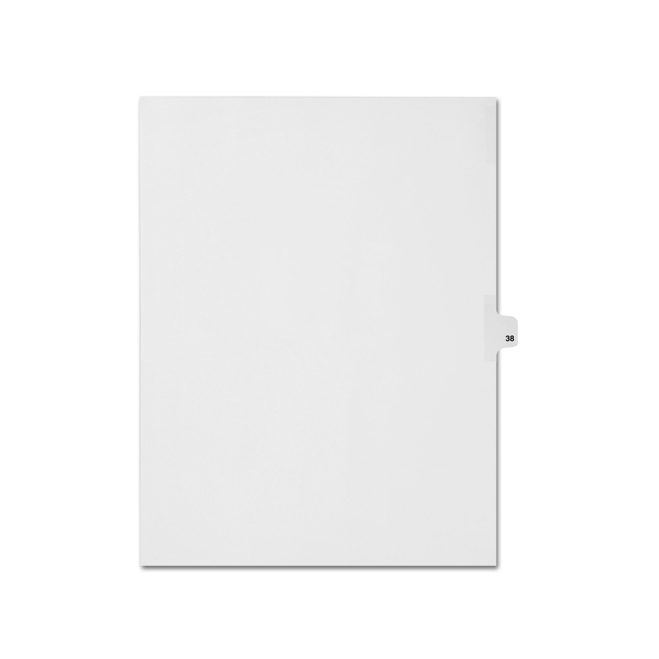 AMZfiling Individual Legal Index Tab Dividers, Compatible with Avery- Number 38, Letter Size, White, Side Tabs, Position 13 (25 Sheets/pkg)