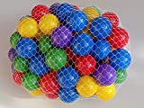 Pack of 1000 pcs 2.5'' Phthalate Free BPA Free Crush Proof Plastic Balls in 5 Bright Colors