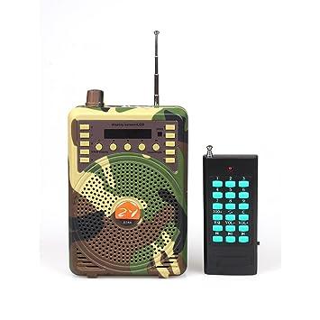 ZY Audio e-388 camuflaje control remoto caza señuelo altavoz electrónico juego llamada pájaro llamada