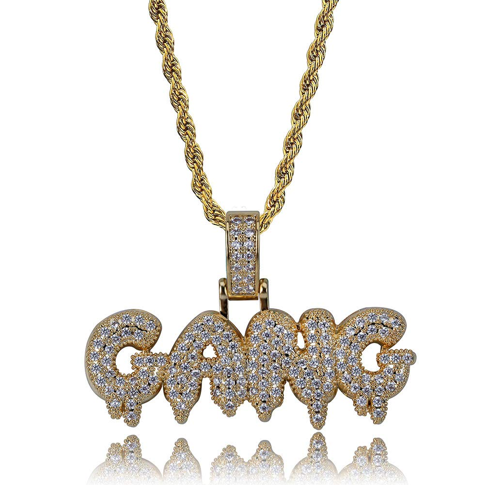 d06b1e365d211 Amazon.com: HECHUANG Micropave Simulated Diamond Iced Out Custom ...