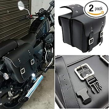 Motorcycle Motorbike Side Saddle Bag Package Luggage Waterproof For Honda Harley