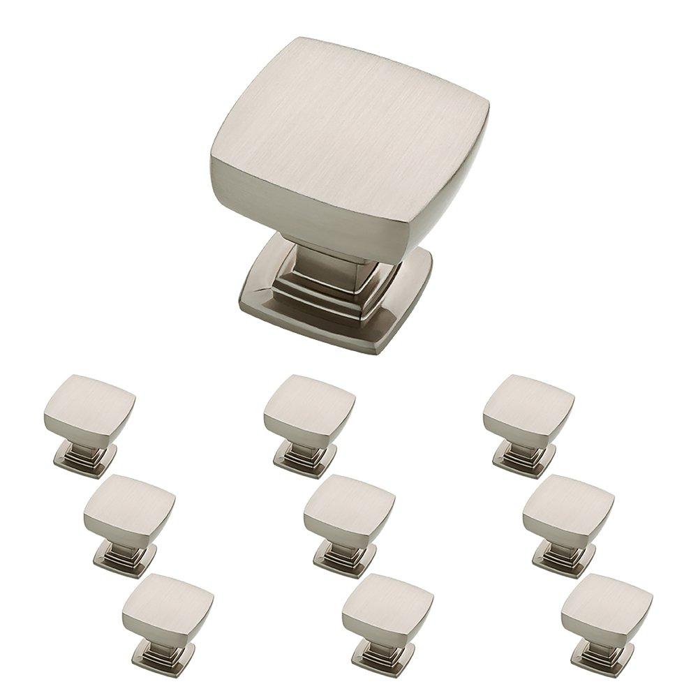 Franklin Brass P29542K-SN-B Satin Nickel 1-1/8-Inch Webber Kitchen Cabinet Hardware Knob, 10 pack
