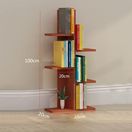 SUBBYE Storage Shelves Solid Wood Multi Storey Student Bookshelf Simple Balcony Rack Childrens Bookcase