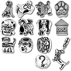 Puppy Dog Beads and Charms for Pandora Charm Bracelets