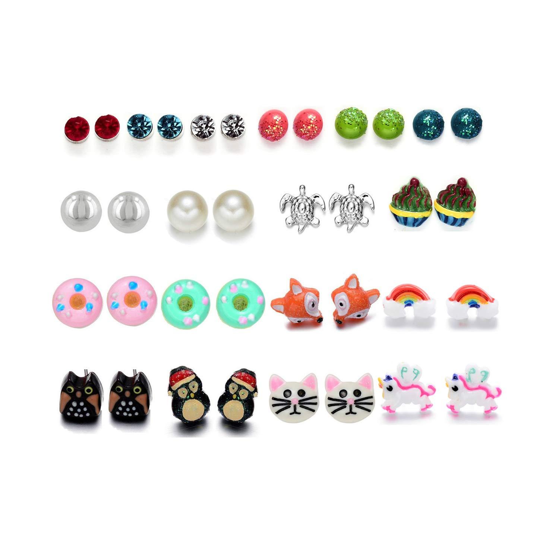 Onnea Lot de Boucle d'oreille pour Fille Enfants Animaux Perle Bensoco E-0424-57-UK