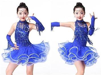 peiwen Vestido de Baile Latino para niña/Espectáculo de Baile de ...