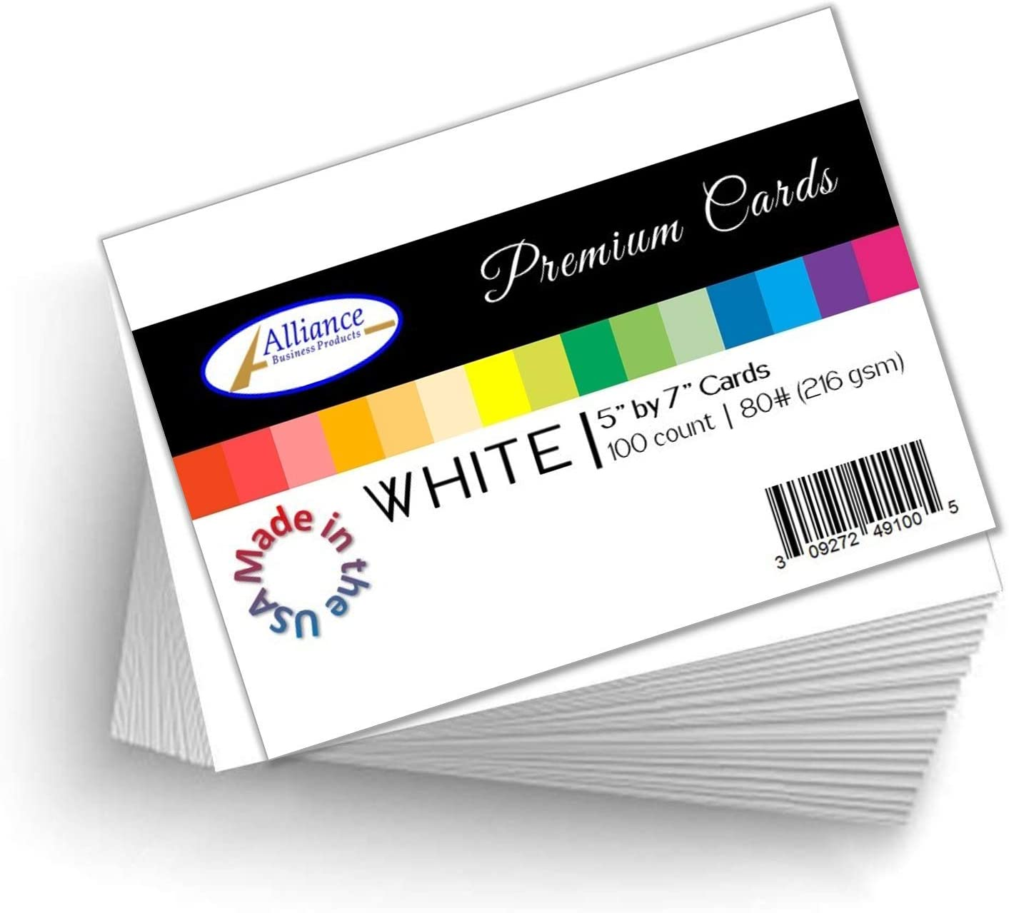 "White Cardstock 5"" X 7"" Heavyweight 