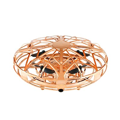 Mini Kid Drone Flying Ball Toys Hand-Controlled Drones Indoor Flying Toys Auto-Avoid Obstacles with 360° Rotating for Kids 1pc Gold: Toys & Games