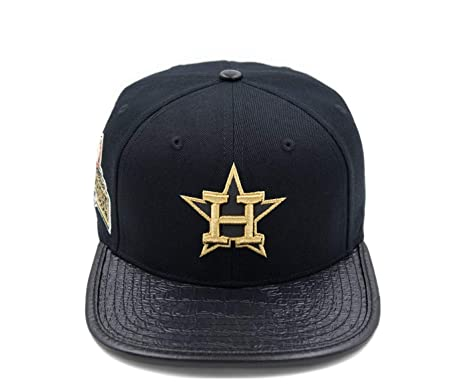 526d27a2819b7 Image Unavailable. Image not available for. Color  PRO-STANDARD Houston  Astros Official MLB 3M Reflective World Series Champs Side Patch Premium  Leather