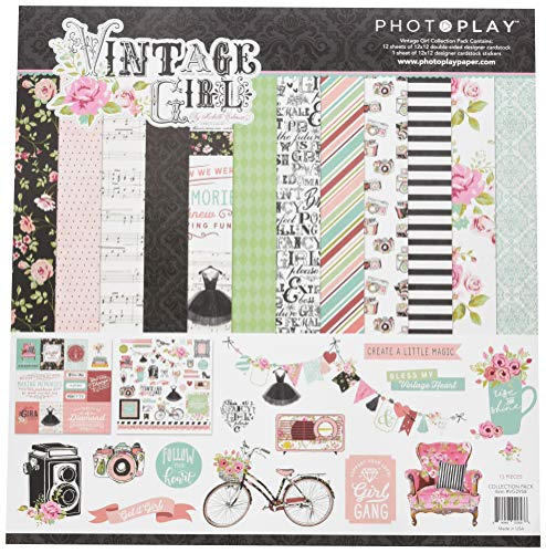 Paper 12x12 Girl (Photo Play Paper Vintage Girl PhotoPlay Collection Pack 12