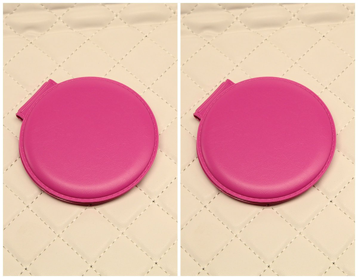 YChoice Cute Baby Toy Mini Round Shape Glass Mirrors Circles for Crafts Decoration Cosmetic Accessory Rose Red