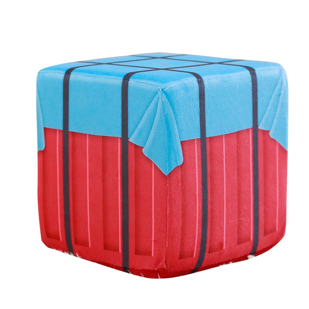 WYCY PUBG Air Drop Box Pillow Stool Eat Chicken Airborne Drop Box Winner Winner Chicken Dinner Around Game Airdrop (30CM)