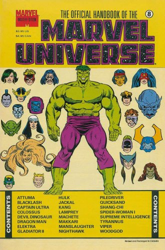 Official Handbook of The Marvel Universe Master Edition #8