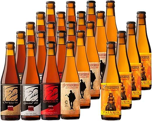 Cervezas Enigma - Pack Degustación - 24 botellas x 0,33 L: Amazon.es: Alimentación y bebidas