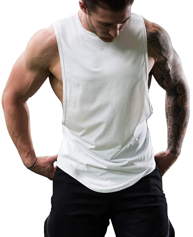 f5ec150d04bb7 Top2  Simbama Men s Workout Tank Top Bodybuilding Fitness Training Muscle  Tee Stringer Gym Shirt